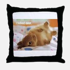 Cute bunny fell over Throw Pillow