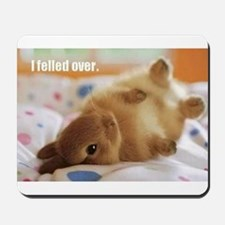Cute bunny fell over Mousepad