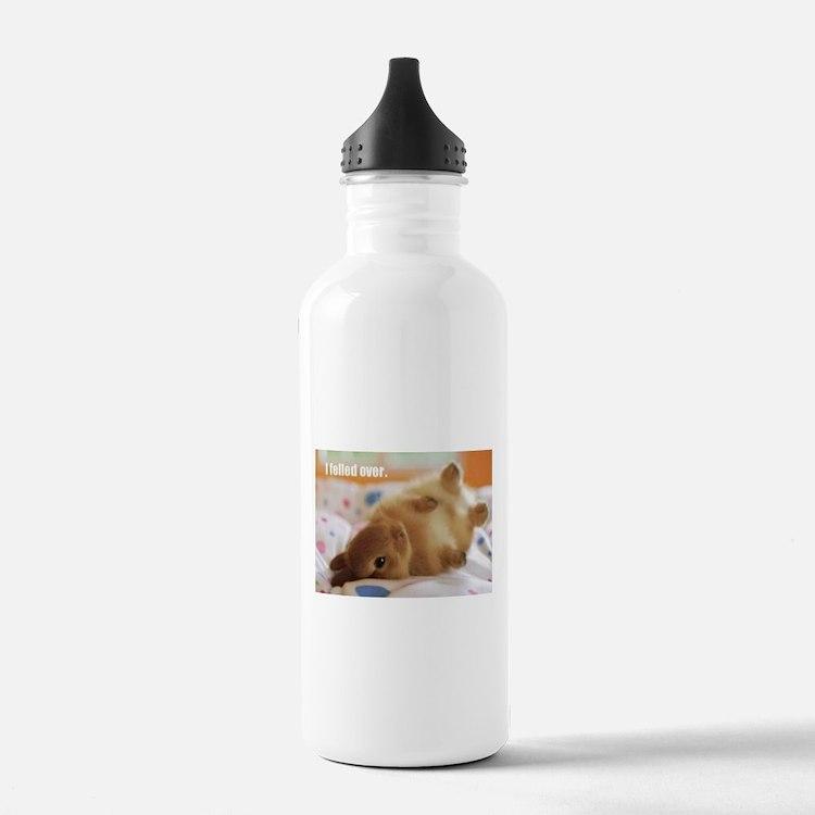 Cute bunny fell over Water Bottle