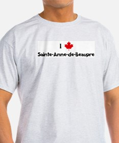 I Love Sainte-Anne-de-Beaupre Ash Grey T-Shirt