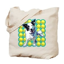Border Collie Pop Art Tote Bag