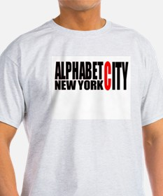 Alphabet City NYC Ash Grey T-Shirt