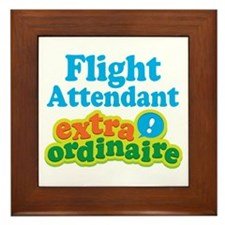 Flight Attendant Extraordinaire Framed Tile