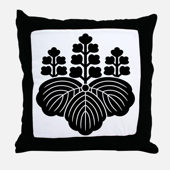 Paulownia with 5-7 blooms Throw Pillow