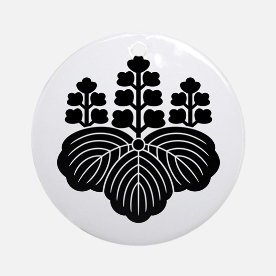 Paulownia with 5-7 blooms Ornament (Round)