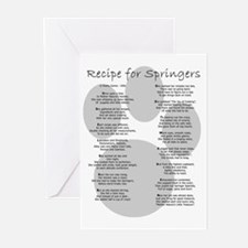 Recipe for Springers w/URL Greeting Cards (Package