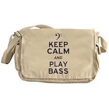 Keep Calm and Play Bass Messenger Bag