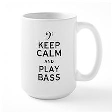 Keep Calm and Play Bass Ceramic Mugs