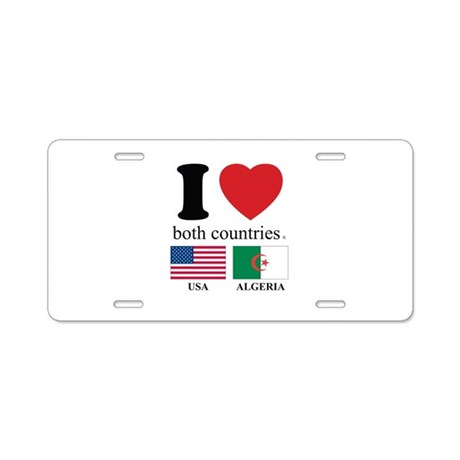 USA-ALGERIA Aluminum License Plate