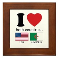 USA-ALGERIA Framed Tile
