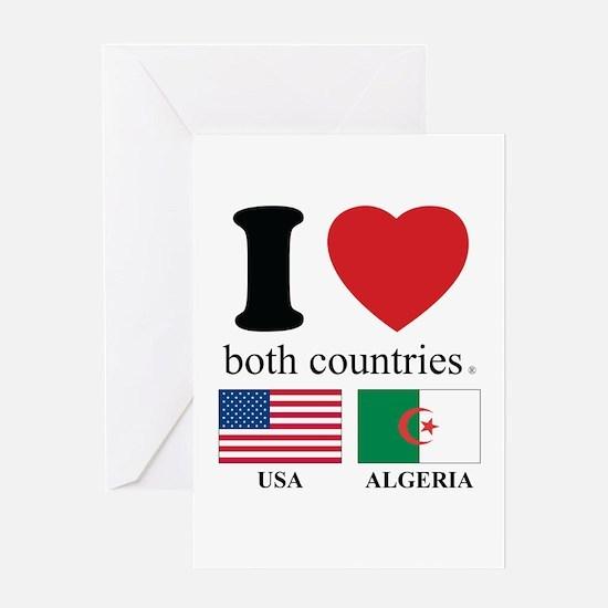 USA-ALGERIA Greeting Card