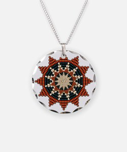 Native American Sunburst Rosette Necklace