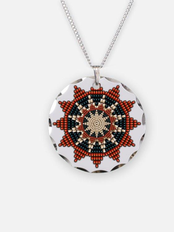 Native American Sunburst Rosette Necklace