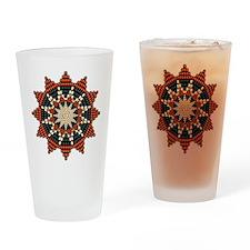Native American Sunburst Rosette Drinking Glass