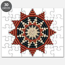 Native American Sunburst Rosette Puzzle