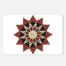 Native American Sunburst Rosette Postcards (Packag