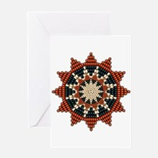 Native American Sunburst Rosette Greeting Card