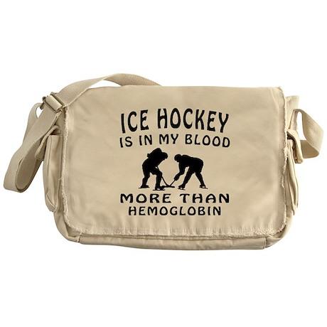Ice Hockey Designs Messenger Bag