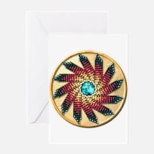 Native American Rosette 17 Greeting Card