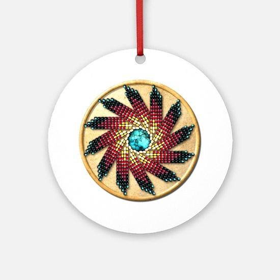 Native American Rosette 17 Ornament (Round)