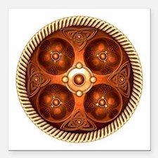 "Celtic Medallion - Copper Square Car Magnet 3"" x 3"