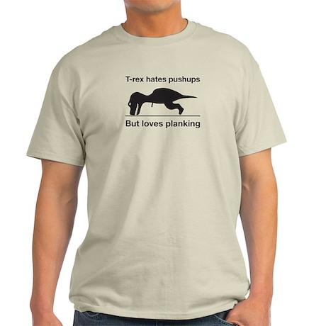 T-Rex Trying Pushups Light T-Shirt