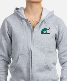 T-Rex Trying Pushups Zip Hoodie