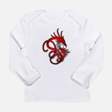 Norse Dragon - Red Long Sleeve Infant T-Shirt