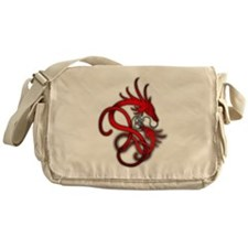 Norse Dragon - Red Messenger Bag