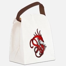 Norse Dragon - Red Canvas Lunch Bag