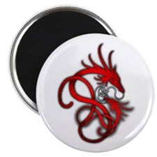 """Norse Dragon - Red 2.25"""" Magnet (10 pack)"""
