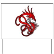 Norse Dragon - Red Yard Sign