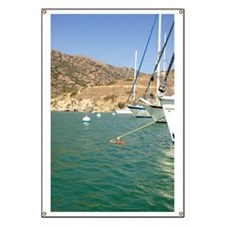 Sailboats at Catalina Harbor Banner