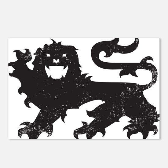 Heraldry Lion Postcards (Package of 8)
