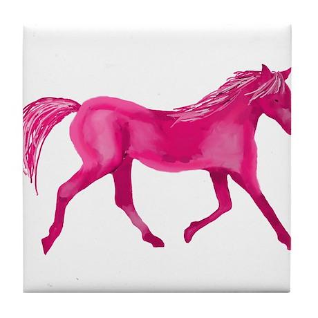 Pink Horse Tile Coaster