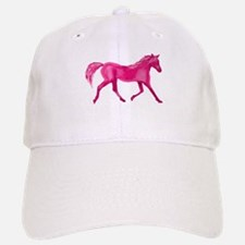 Pink Horse Baseball Baseball Cap