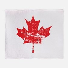 Maple Leaf Throw Blanket