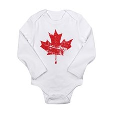 Maple Leaf Long Sleeve Infant Bodysuit
