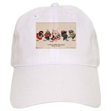 Patriotic Dogs WW1 Pit Bull Terrier Baseball Cap