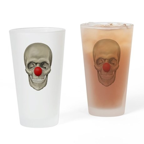 Death of a Clown Drinking Glass
