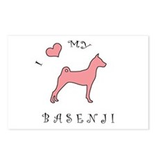 Love My Basenji Pink Postcards (Package of 8)