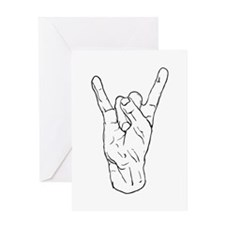 Horns Up Greeting Card