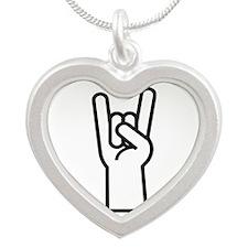 Heavy Metal Silver Heart Necklace