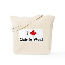 I Love Quinte West Tote Bag