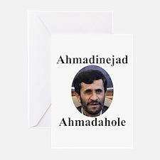 Ahmadinejad Ahmadahole Greeting Cards (Package of