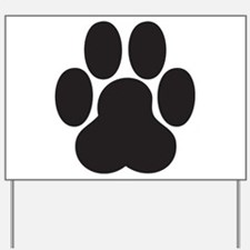 Paw Print Yard Sign