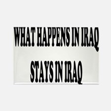 What Happens In Iraq Black Rectangle Magnet