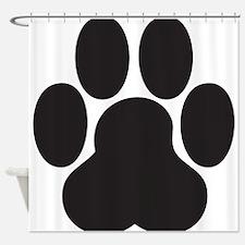 Paw Print Shower Curtain