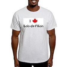 I Love Bois-de-Filion Ash Grey T-Shirt