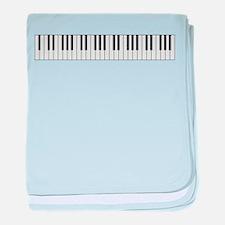 Piano Keys baby blanket